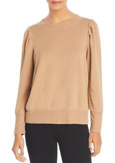 Monrow Tucked Sleeve Puff Shoulder Sweatshirt