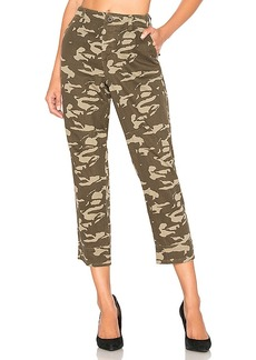 MONROW Two Tone Camo High Waisted Military Pant