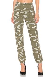 MONROW Two Tone Camo High Waisted Sweatpants