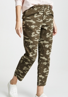 MONROW Two Toned High Waisted Military Pants