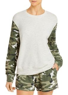 Monrow Urban Camo Color Blocked Sweatshirt