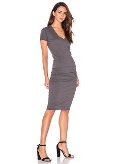 MONROW V Neck Dress in Black. - size L (also in M,S,XS)