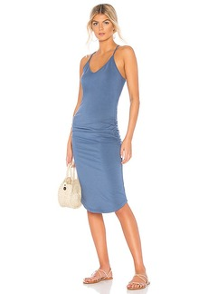 MONROW V Neck Racer Back Dress