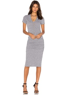 MONROW V-Neck Shirt Dress