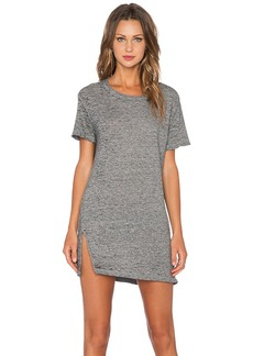 MONROW Vintage Burn Out Oversized Tee Shirt Dress