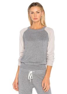 MONROW Vintage Raglan Sweatshirt in Gray. - size L (also in M,S,XS)