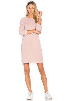 MONROW Vintage Sweatshirt Dress in Pink. - size M (also in S,XS)