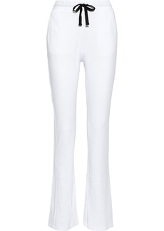 Monrow Woman French Cotton-blend Terry Track Pants White