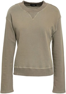 Monrow Woman French Cotton-terry Sweatshirt Army Green