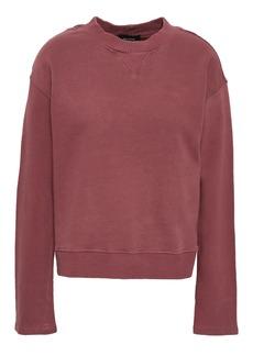 Monrow Woman French Cotton-terry Sweatshirt Grape