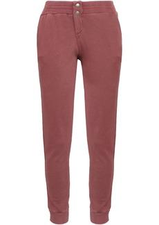Monrow Woman French Cotton-terry Track Pants Grape