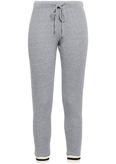 Monrow Woman French-terry Track Pants Gray