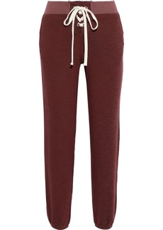 Monrow Woman Lace-up French-terry Track Pants Merlot