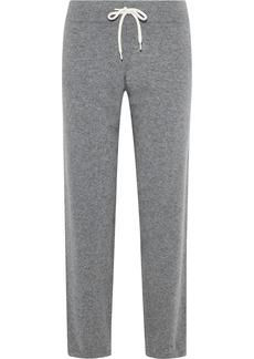 Monrow Woman Mélange Cashmere-blend Track Pants Gray