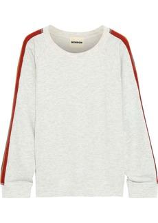 Monrow Woman Striped French Terry Sweatshirt Light Gray