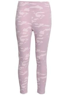 Monrow Woman Printed Stretch-jersey Leggings Pastel Pink