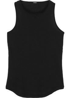 Monrow Woman Ribbed Supima Cotton-blend Jersey Tank Black