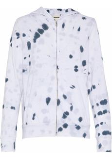Monrow Woman Tie-dyed Fleece Hoodie White