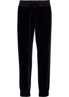 Monrow Woman Velvet Track Pants Black