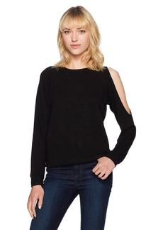 Monrow Women's Asymmetric Slash Shoulder Top  S