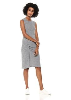 Monrow Women's Asymmetrical Shirred Dress