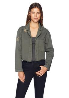 Monrow Women's Boxy Jacket W/Tonal Stars