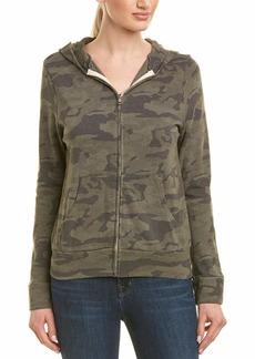 Monrow Women's Camo Print Zip Up Hoodie Sweatshirt