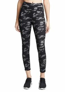 Monrow Women's  Camo Sporty Leggings  Black Print