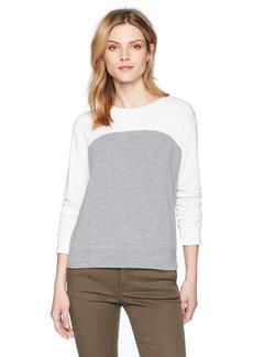 Monrow Women's  Color Block Sweatshirt