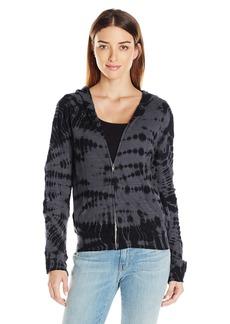 Monrow Women's Crocodile Tie Dye Zip Front Sweatshirt  M