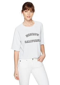 Monrow Women's Cut Off Sweatshirt W California  XS