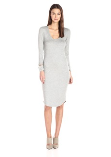 Monrow Women's Cut Out Cuff Dress  XS