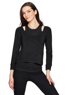 Monrow Women's Double Layer Long Sleeve V  M