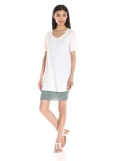 Monrow Women's Double Layer T Shirt Dress