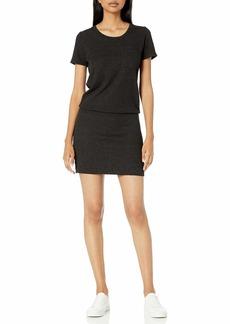 Monrow Women's Granite Thermal Pocket T Dress  Extra Small