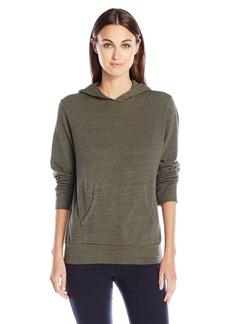 Monrow Women's Heather Fleece Kangaroo Pullover  S