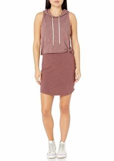Monrow Women's Hooded Doube Layer Dress