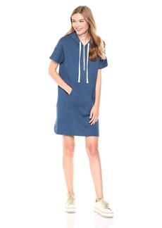 Monrow Women's Hoody Dress with Star Print Hood