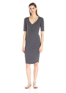 Monrow Women's Lace Up Dress