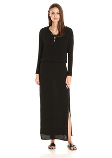 Monrow Women's Lace up Maxi Dress  L
