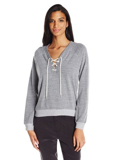 Monrow Women's Lace up Sweatshirt  L