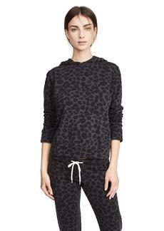 Monrow Women's Leopard Pullover Hoody