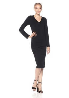 Monrow Women's Long Sleeve Shirred Dress  S
