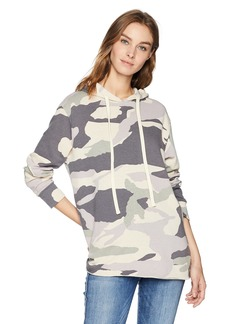 Monrow Women's Oversized Camo Slouchy Sweater  Extra Small