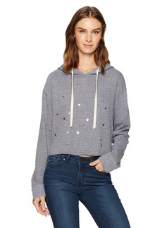 Monrow Women's Oversized Cropped Hoody with Star Dust  M