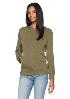 Monrow Women's Pull Over Hoody With Side Lace up  S
