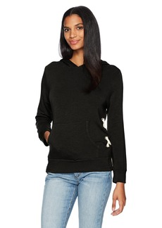 Monrow Women's Pull Over Hoody W/Side Lace Up  S
