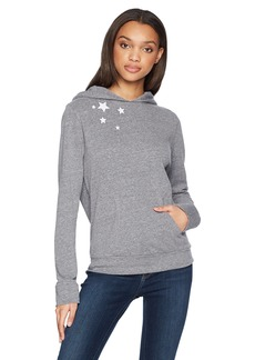 Monrow Women's Pullover Hoody with Embroidered Stars  Extra Small