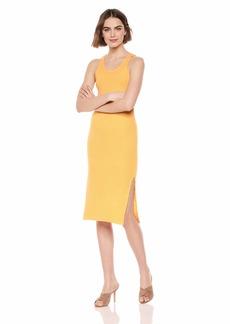 Monrow Women's Rib Tank Dress w/Side Slit