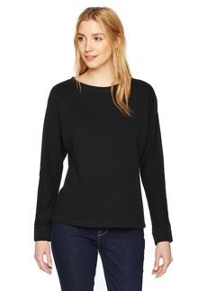 Monrow Women's Shirred Back Long Sleeve Top  Extra Small